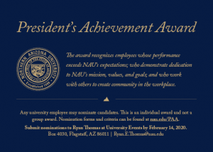 President's Achievement Award