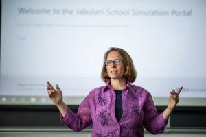 Professor Gretchen McAllister teaches student teachers how to reach their classrooms.