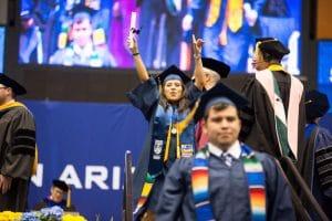 Hispanic students celebrate NAU commencement.