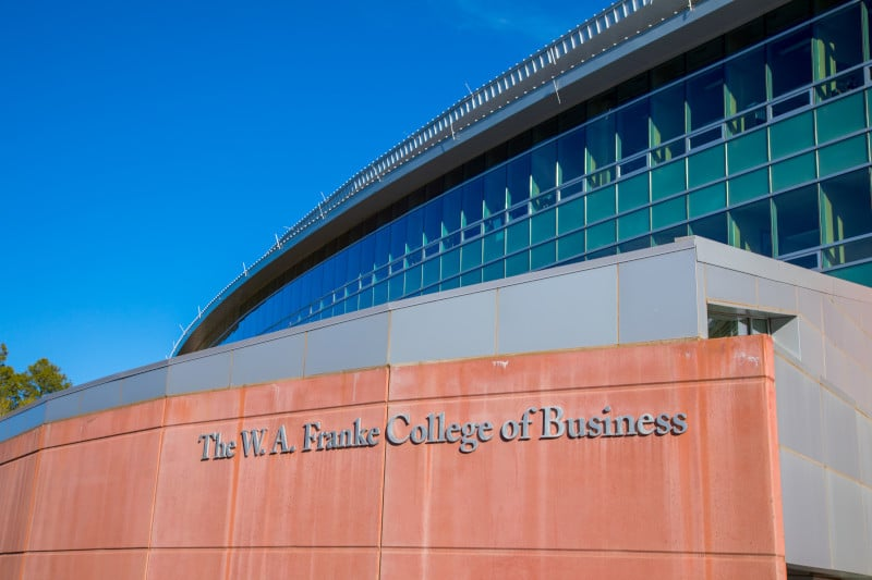 The W. A. Franke College of Business building on NAU campus