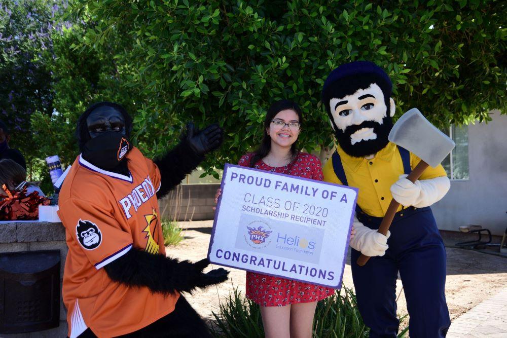 Marylin Maldonado pictured with Gorilla and Louie