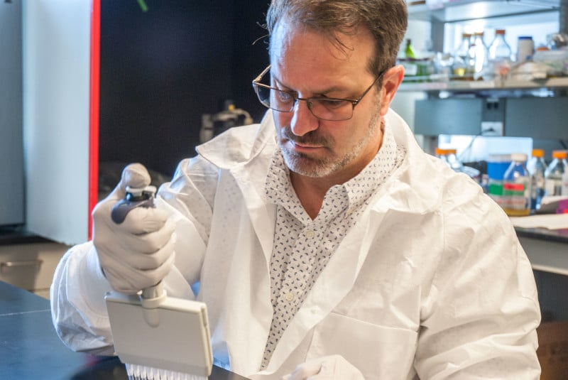 C. Todd French works in a lab.