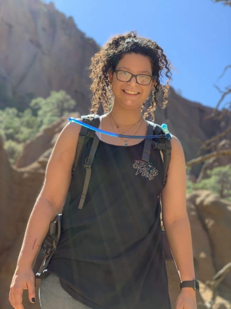 Doctoral student Alexis Riche studies the Colorado Plateau.