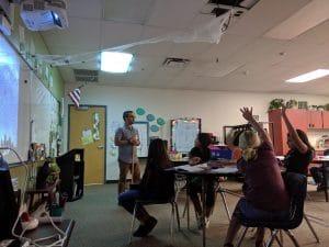 GRFP winner Jay Kueny teaches astronomy.