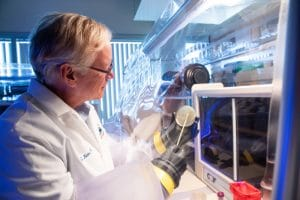 Paul Keim works in the Pathogen and Microbiome Institute