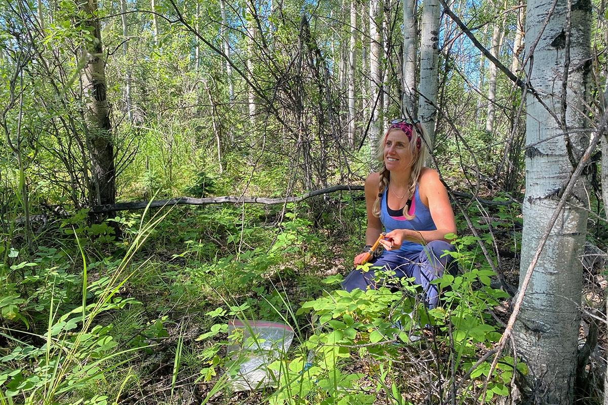 Xanthe Walker works in a field