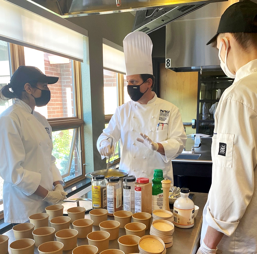 Chef Mark instructs students