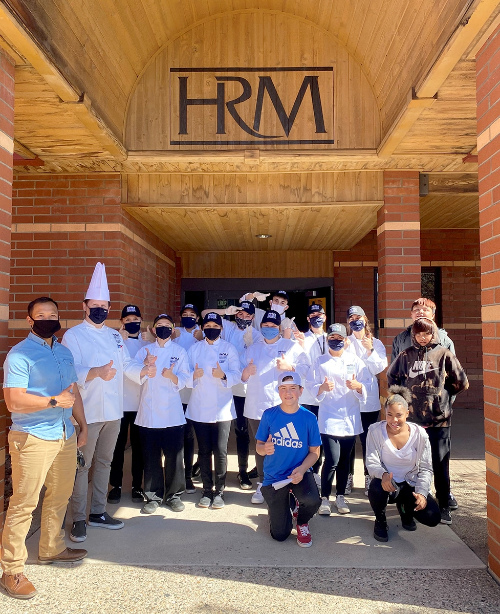HRM students pose as group