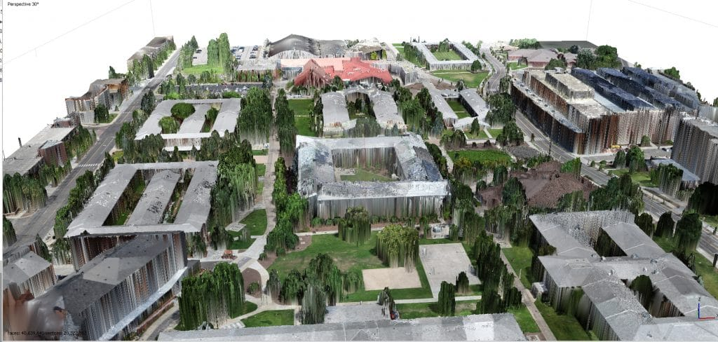 Images from a 3D model of NAU's campus