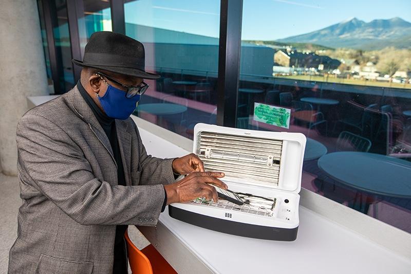 Dan Okoli with a Puritize system
