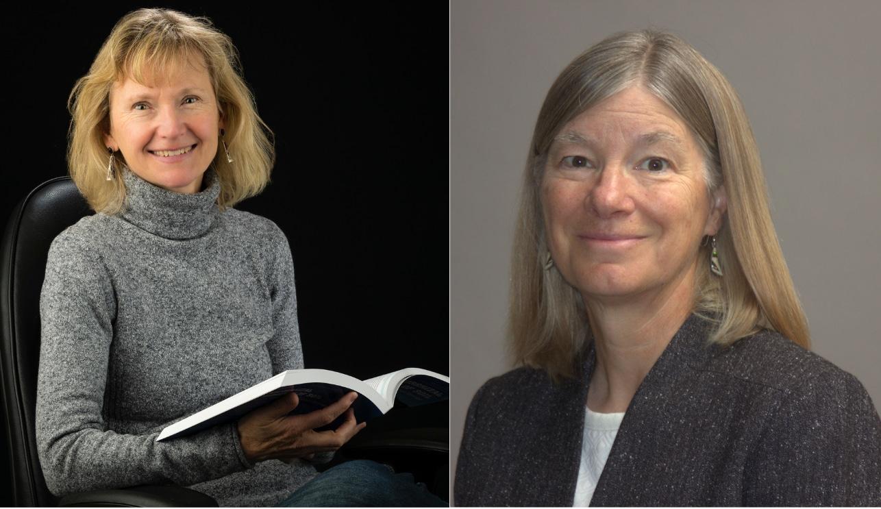 Nancy Johnson and Laura Huenneke