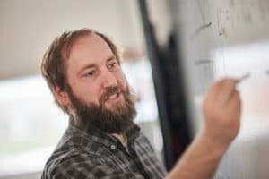 Gerrick Lindberg studying Saturn's moon