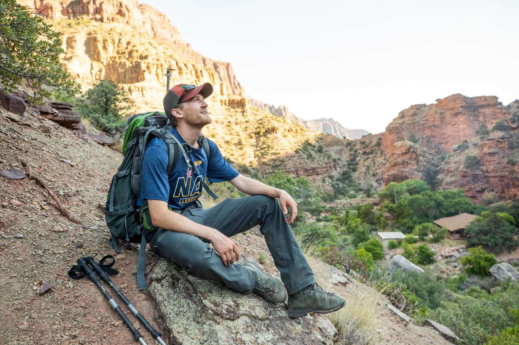 Swanson admires Grand Canyon