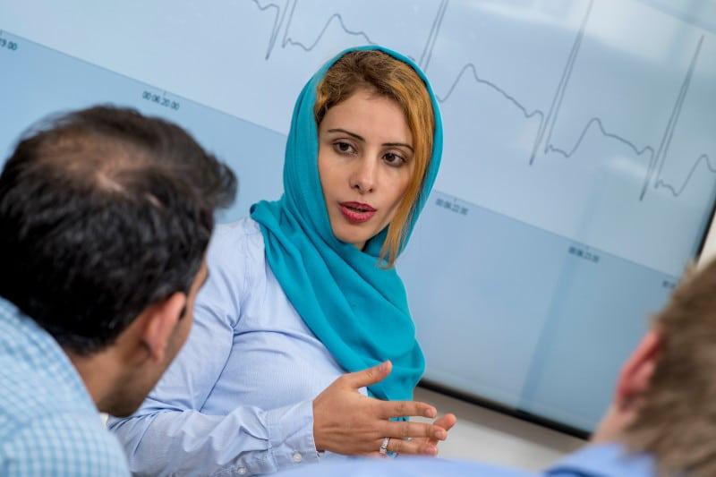 Fatemeh Afghah in lab
