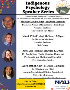 Indigenous Psychology Speaker Series Flyer