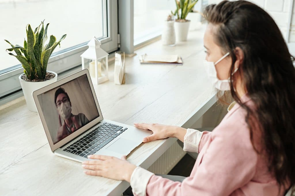 A provider offers telehealth