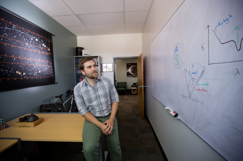 Tyler Robinson in his office