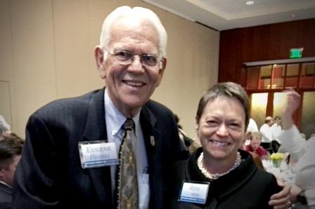Eugene Hughes and President Rita Cheng