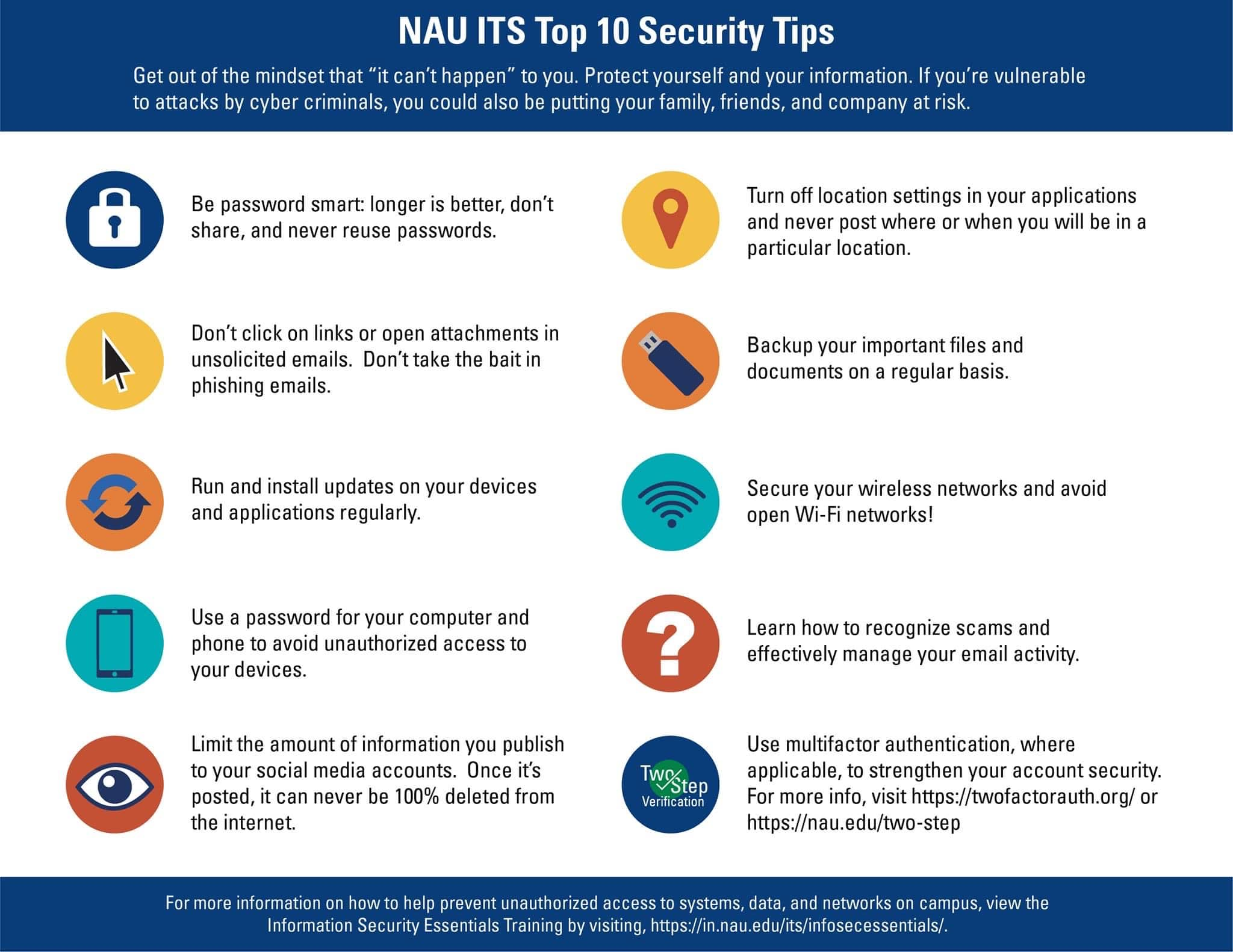 10 security tips infographic for phishing attacks