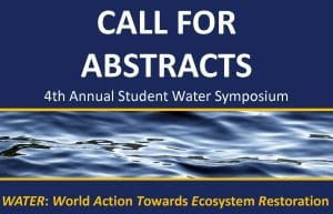 """Water ripples below """"Call for Abstracts"""" words"""