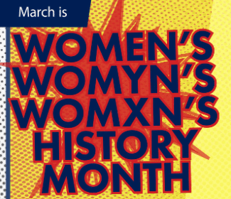 Women's History Month words