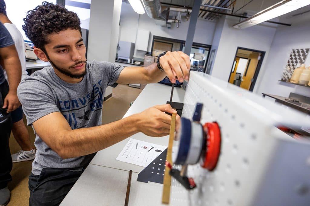 Hispanic student in lab