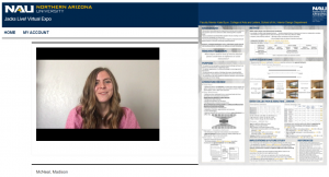 Madison McNeal presentation over Zoom