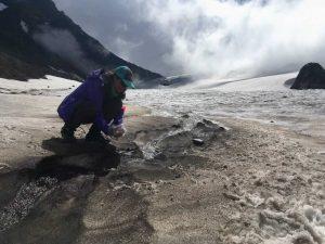 Allie Rutledge at a glacier