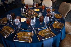 Alumni Awards banquet table