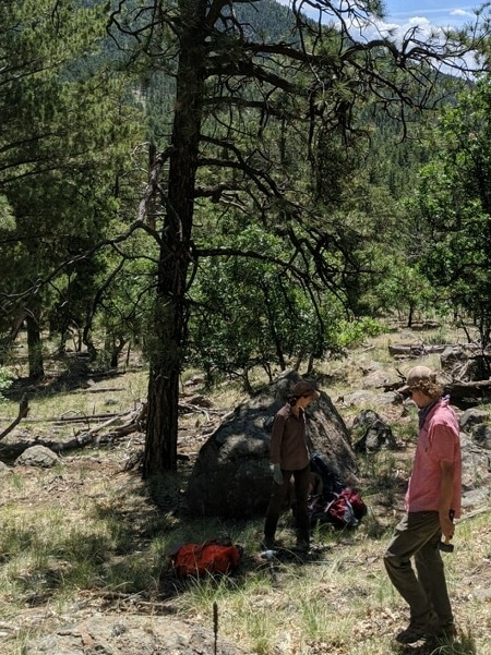 Ethan Taber at Museum Fire site