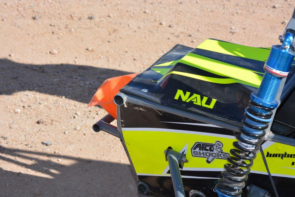 NAU logo on the Baja