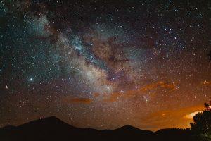 The Milky Way at night