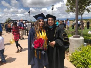 Fe and Angelina at the CSD Hooding Ceremony
