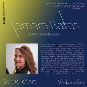 Flier for Tamara Bates Lecture