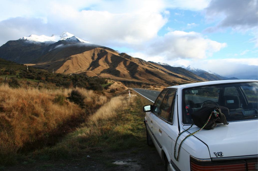 Car parked in New Zealand