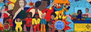 colorful mural of hispanic heritage