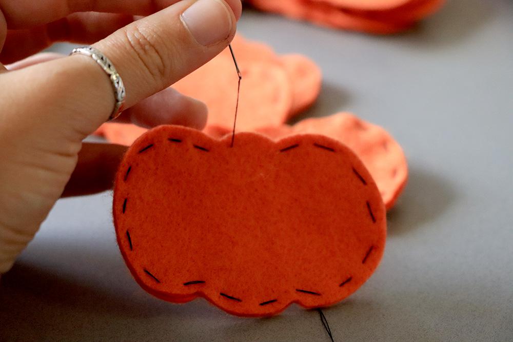 Pumpkin sewn together